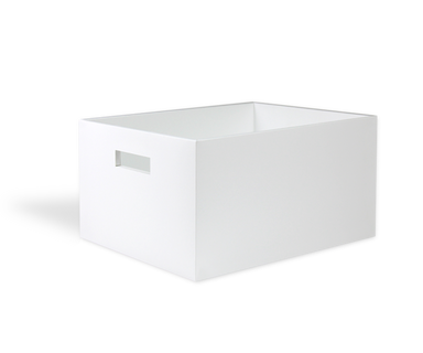 White storage tray with lid