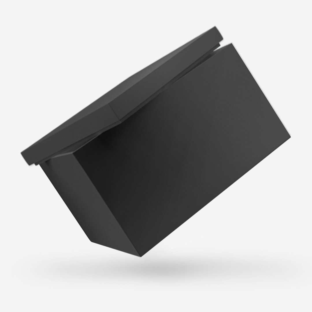 Black Storage Box with Lid