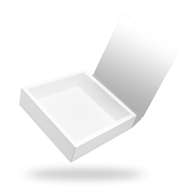 Square white magnetic closure box