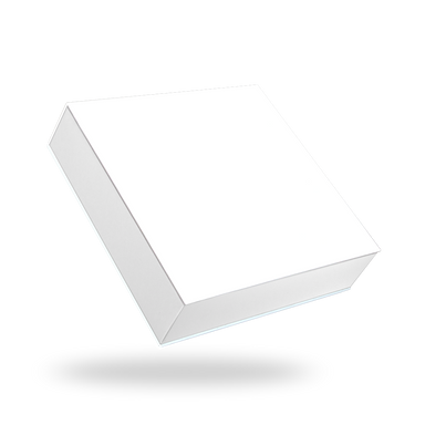 Square white tray - white lid magnetic closure box