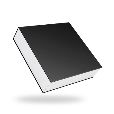 Black outside, White inside Square Magnetic Box - closed