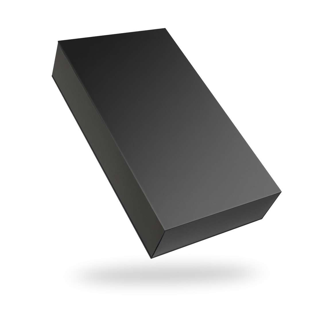 Black Rectangular Magnetic Box - closed