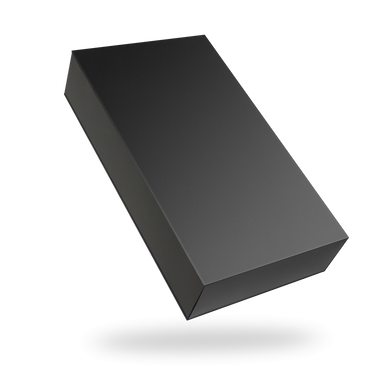 Rectangular black tray - black lid magnetic closure box