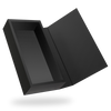 RECTANGULAR BLACK TRAY <br>MAGNETIC CLOSURE BOXES WITH BLACK COVER