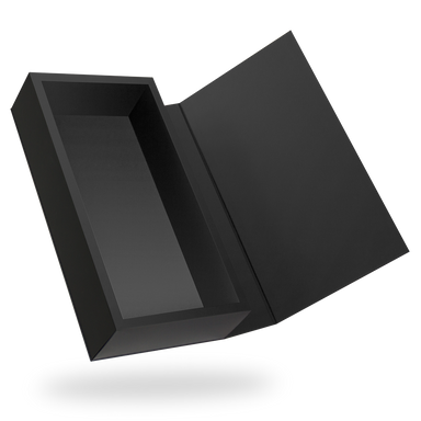 Black Rectangular Magnetic Box - open