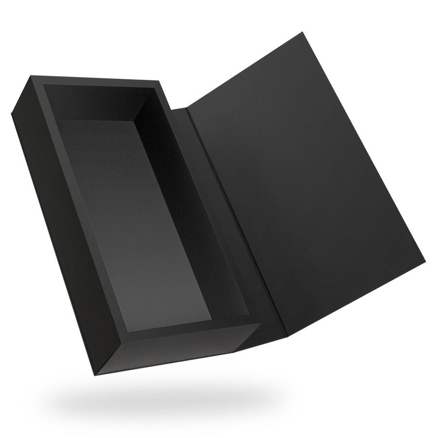 RECTANGULAR BLACK<br>MAGNETIC CLOSURE BOXES