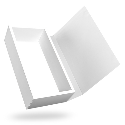 White Rectangular Magnetic Closure Box - open