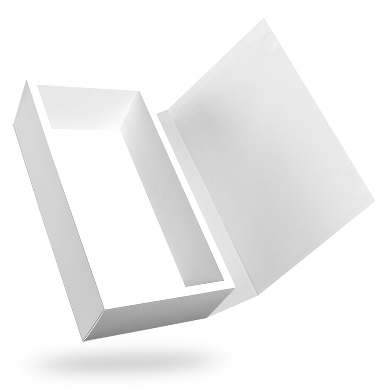White Rectangular Magnetic Box - closed