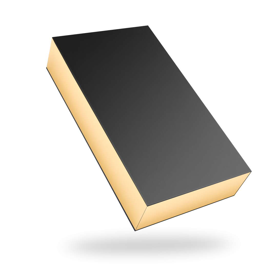 RECTANGULAR GOLD TRAY MAGNETIC CLOSURE WITH BLACK LID
