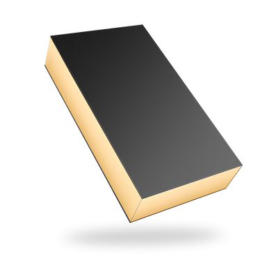 Rectangular gold tray - black lid magnetic closure box