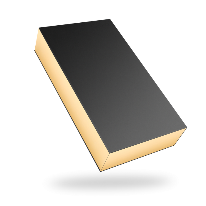 Rectangular black magnetic closure box - Gold tray