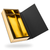 Black outside, Gold inside Rectangular Magnetic Box - open