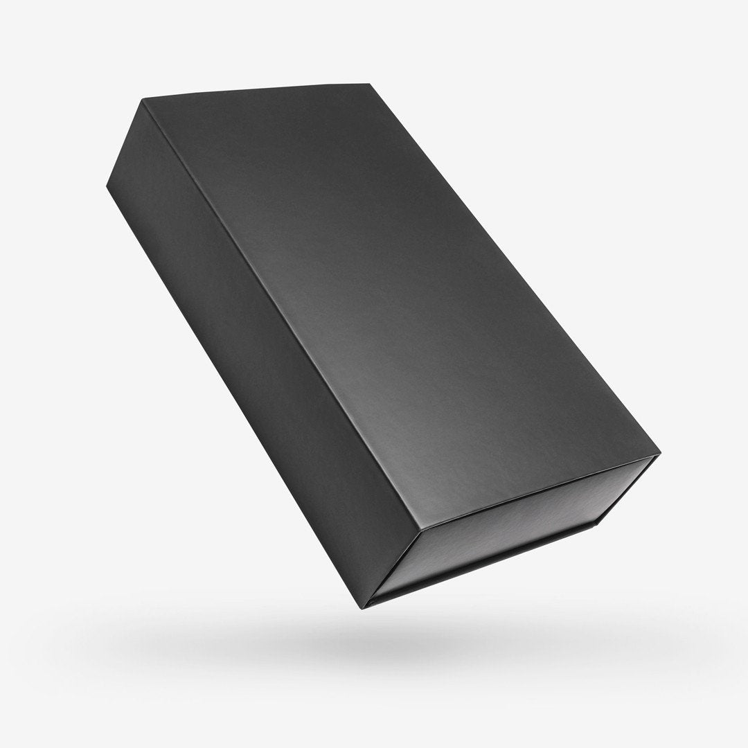 Black Rectangular Rigid Sleeve Box - closed