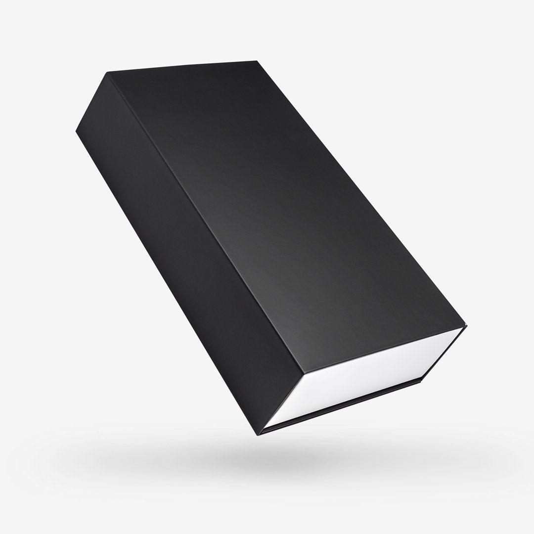 Black outside, White inside Rectangular Rigid Sleeve Box - closed