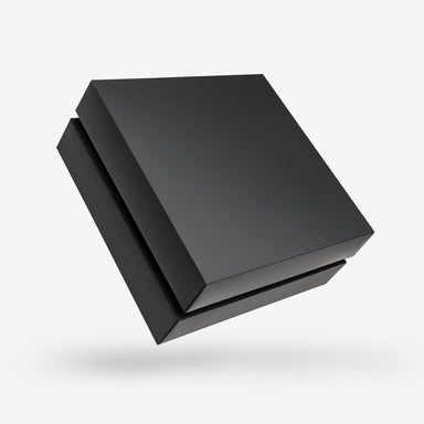 Square black tray - black lid removable lid box