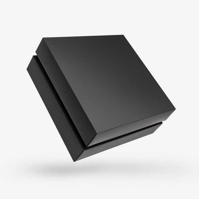 Square black removable lid box