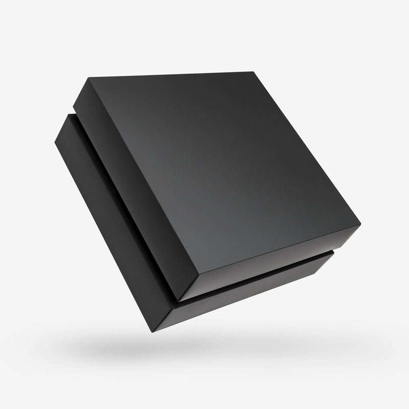 Black Square Box with Lid - Open