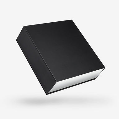 Black outside, White inside Square Rigid Sleeve Box - closed