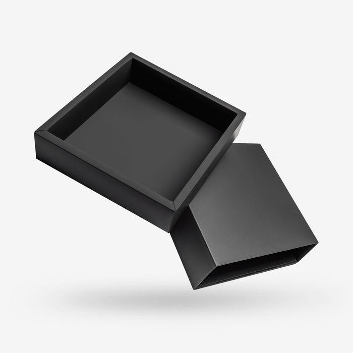 Black Square Rigid Sleeve Box - open
