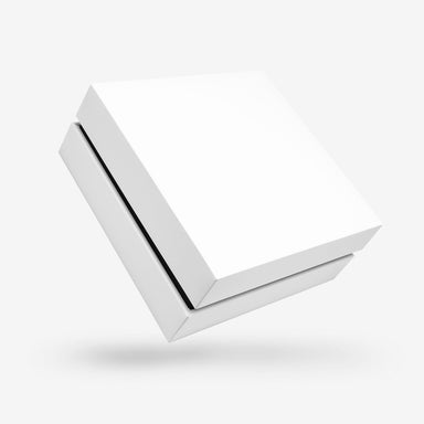 Square white removable lid box - Black tray