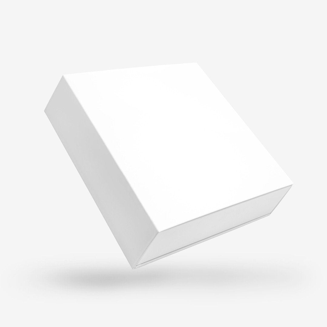 White Square Rigid Sleeve Box - closed