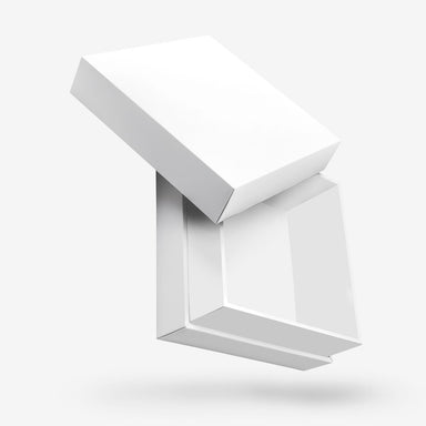 Square white removable lid box