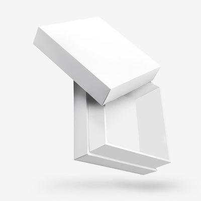 White Square Box with Lid - open
