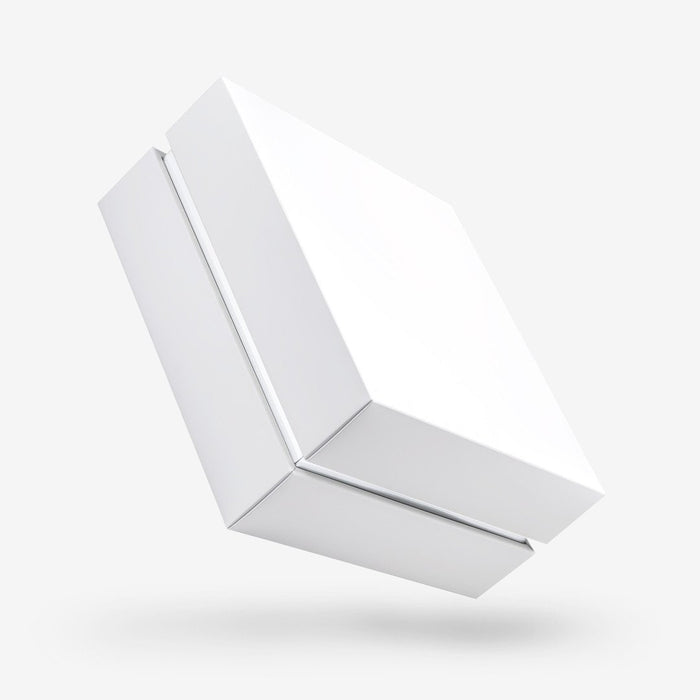 White Square Box with Lid - closed