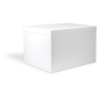 White Storage Box with Lid - closed