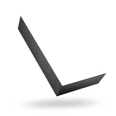RECTANGULAR BLACK TRAY MAGNETIC CLOSURE BOX <BR>WITH WHITE LID