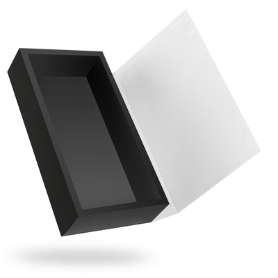 RECTANGULAR BLACK TRAY MAGNETIC CLOSURE WITH WHITE LID