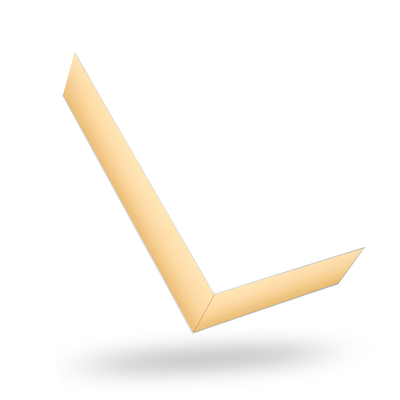 White outside, Gold inside Rectangular Magnetic Box - closed
