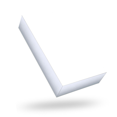 White outside, Silver inside Rectangular Magnetic Box - closed