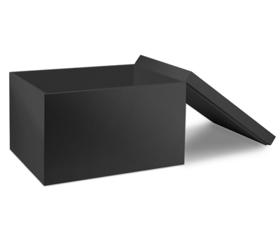 Black Storage Box with Lid - open