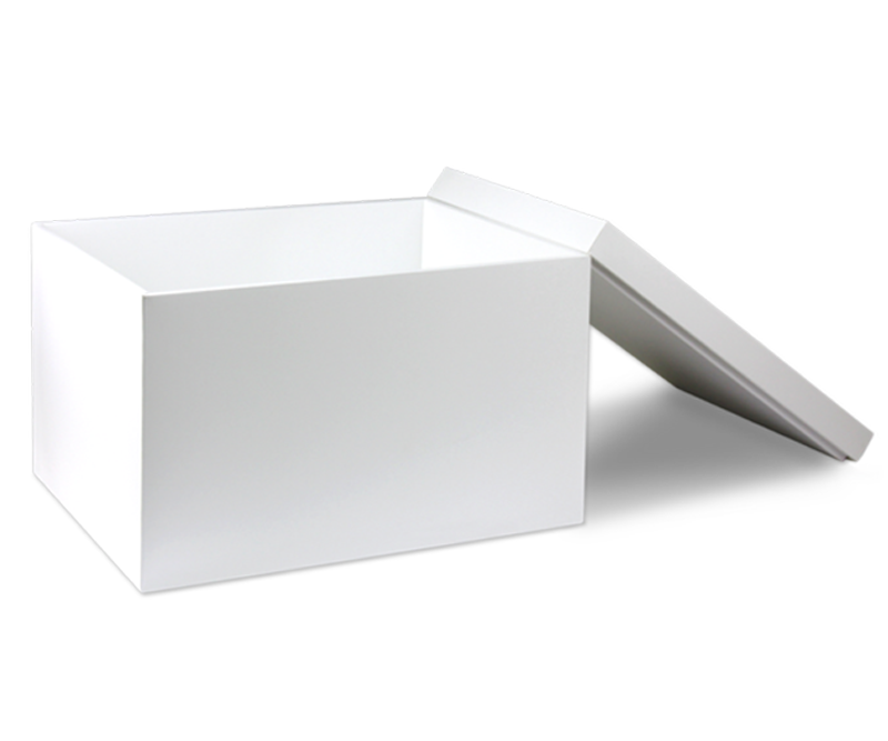 White storage box with lid