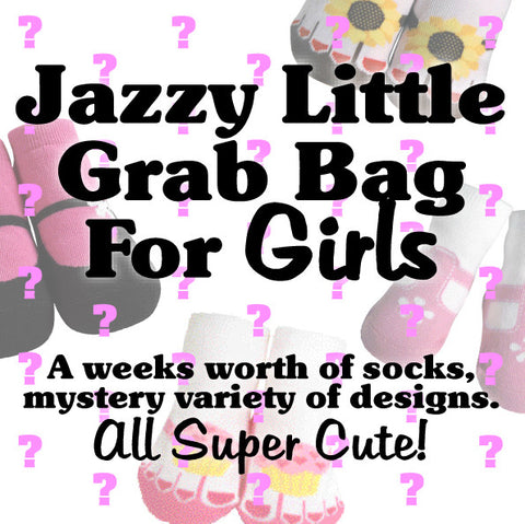 Jazzy Little Bag of Socks for Girls!