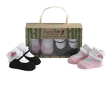 Bamboo Mary Janes (Black/Pink) for Newborns