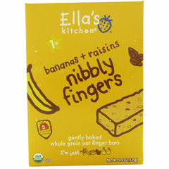 Ella's Kitchen Nibbly Fingers Bananas plus Raisins 4.4 oz