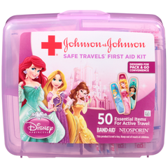 Johnson & Johnson RED CROSS® Brand Disney Princess Safe Travels First Aid Kit