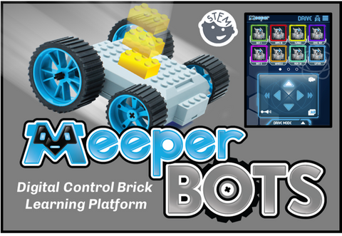 meeperBOTS:  Digital Control Brick Learning Platform