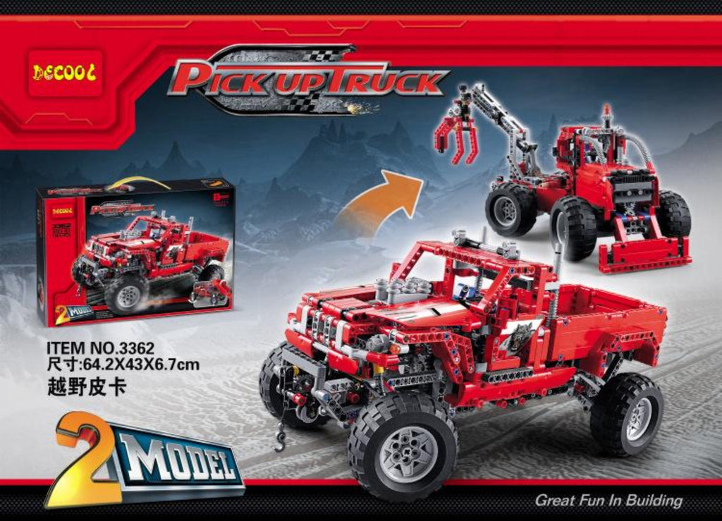 Combo Kit: meeperBOT 2.0  & DeCool #3362 - Monster Pickup Truck