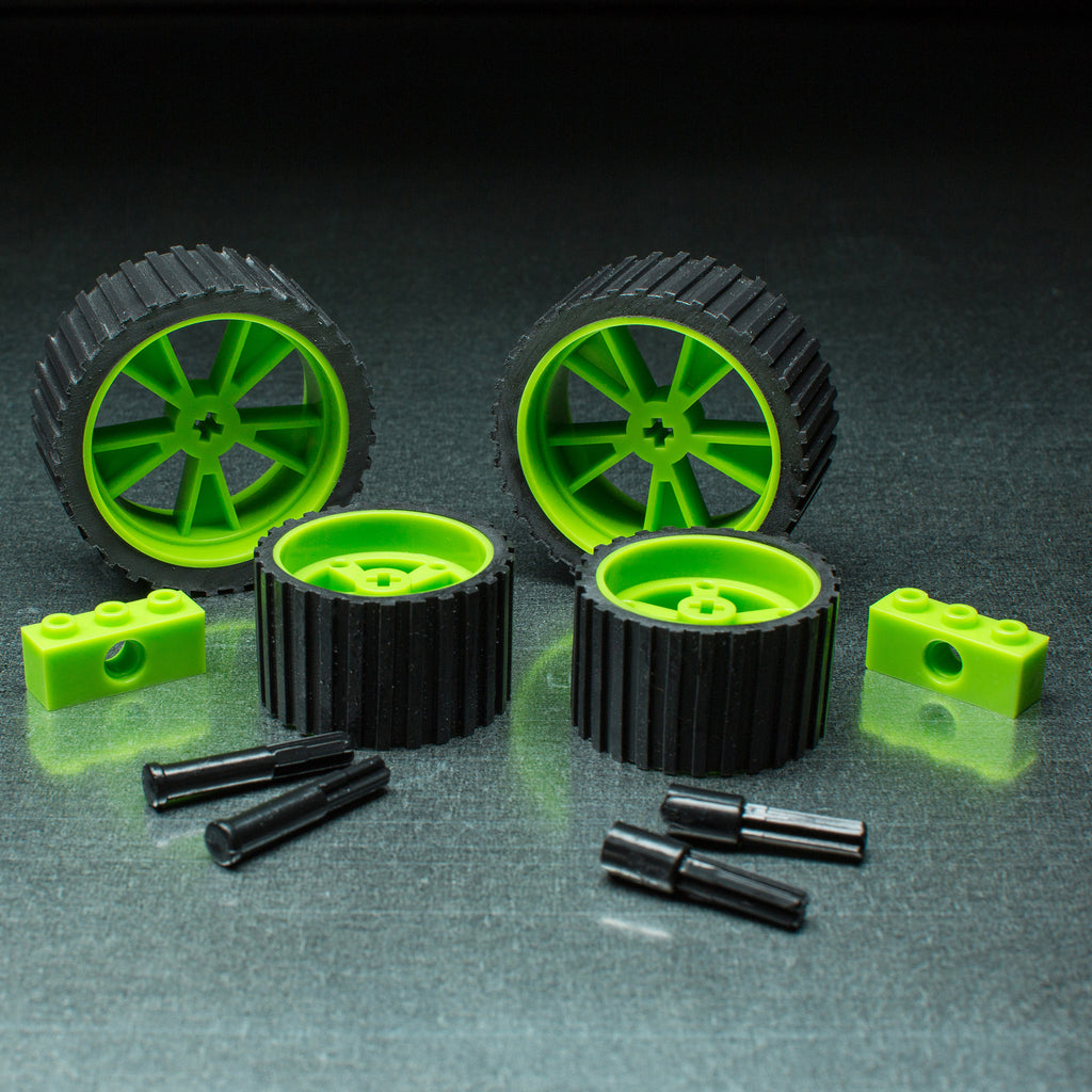 X - meeperBOT 2.0 Wheel Pack - Neon Green