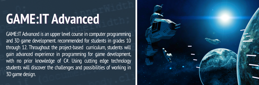 GAME:IT Curriculum Series
