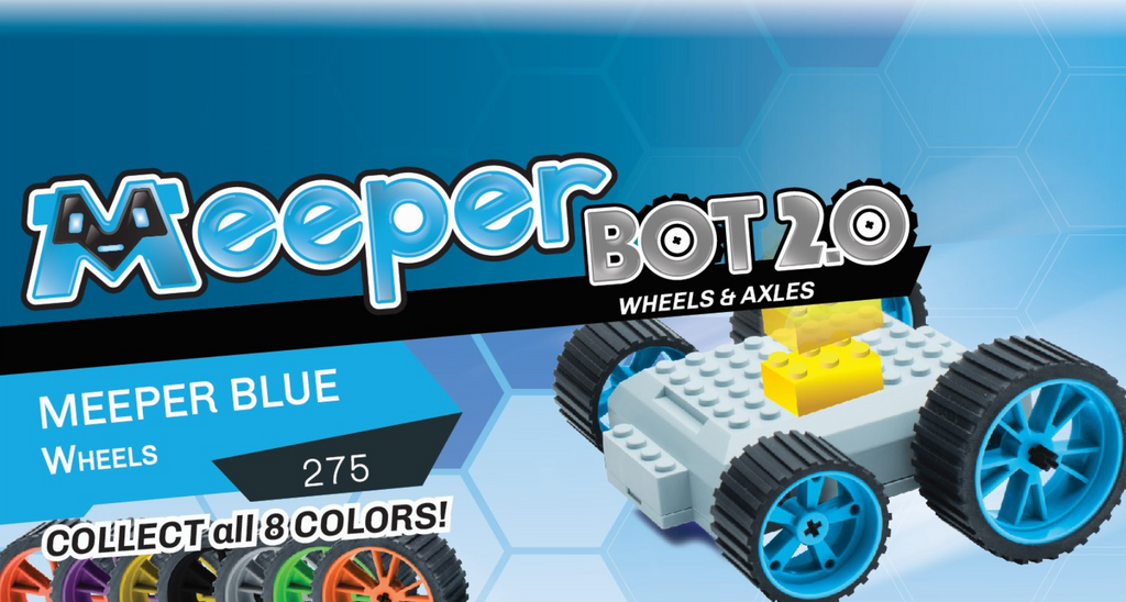 X - meeperBOT 2.0 Wheel Pack - Meeper Blue