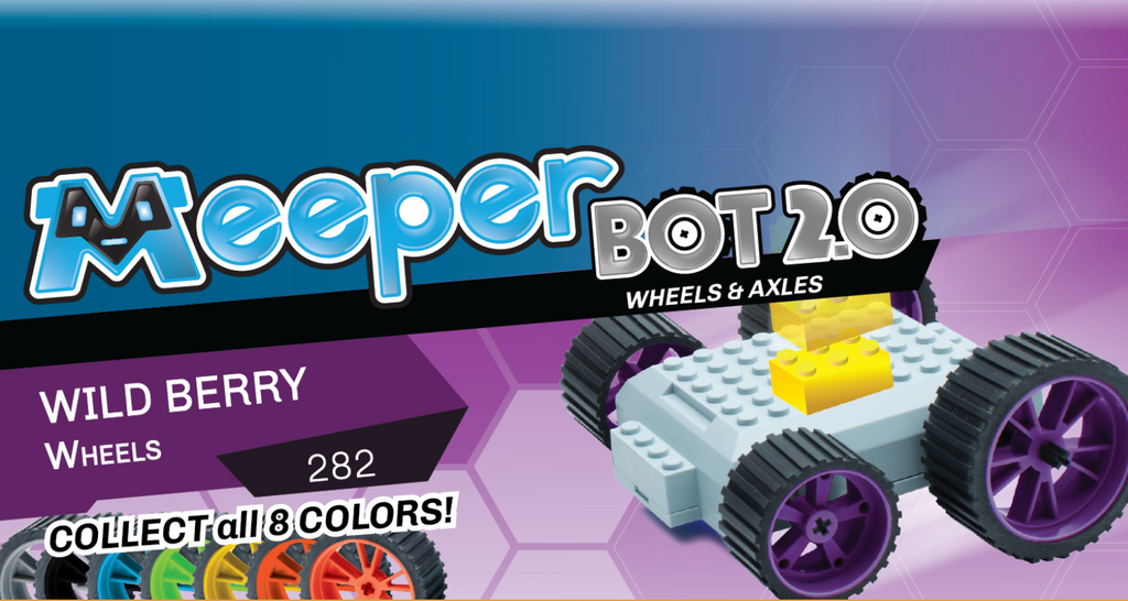 X - meeperBOT 2.0 Wheel Pack - Wild Berry