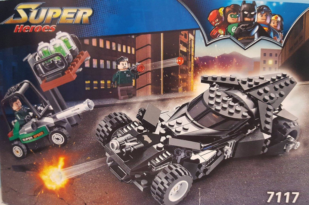 X - DeCool #7117 - Super Heroes Bat Mobile