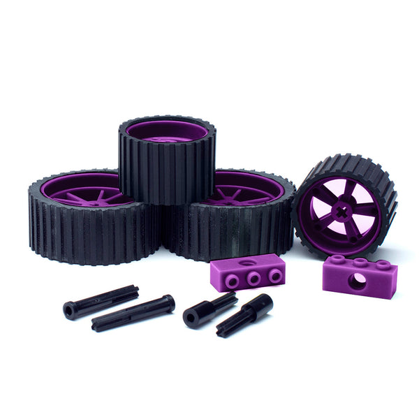 meeperBOT V2.0 Wheel/Axle 4Pk. Wild Berry Purple
