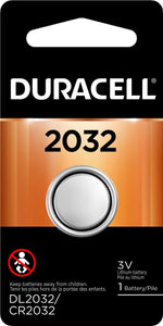 DL2032-1 Duracell 2032 Lithium Coin Cell Battery