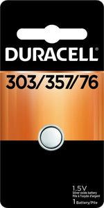 D357B Duracell 303/357 Silver Oxide Button Cell Battery