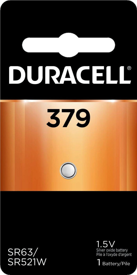 D379B Duracell 379 SILVER OXIDE BUTTON BATTERY